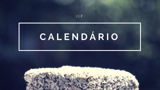 Calendário de cursos de Janeiro