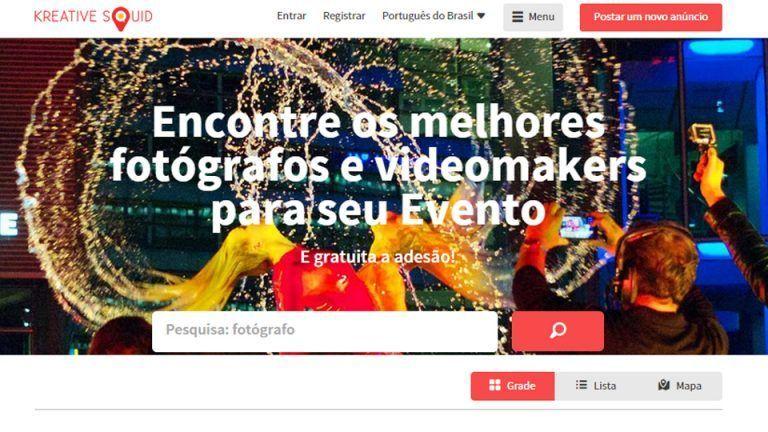Conheça o Kreative Squid, a nova plataforma para a busca de fotógrafos