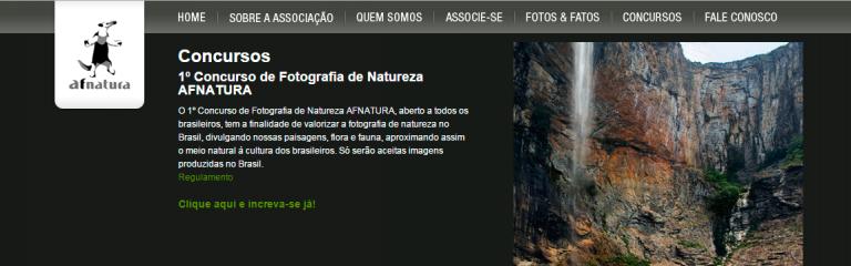 Inscrições para o 1º Concurso Brasileiro de Fotografia de Natureza