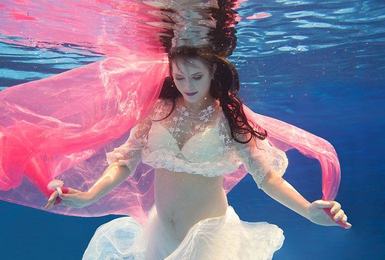 Fotografia embaixo d'água com Carla Durante