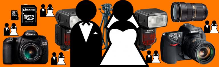 Os equipamentos básicos para fotografar um casamento