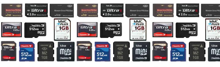 A evolução dos cartões de memória