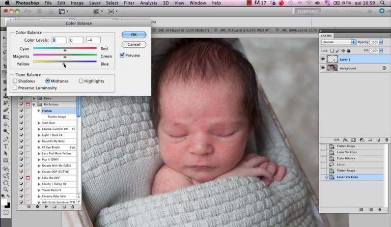 Paula Carpi explica como fazer tratamento de pele na fotografia newborn